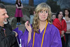 Walt Hester | Trail Gazette<br /> Leesha Mood reacts to the traditional first post-grduation cigar on Friday. The Class of 2011 celebrated their graduation at the YMCA of the Rockies on Friday.