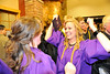 Walt Hester | Trail Gazette<br /> Kyra Stark can't contain her delight after graduation ceremonies on Friday. Stark, and the majority of her graduating class will move on to college next year.