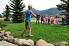 "Walt Hester | Trail Gazette<br /> Children of the Soggy Noodles Acting Camp play an espressive game at the end of their Wednesday rehearsal. The group will perform William Shakespeare's ""The Tempest."""