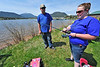 Walt Hester | Trail Gazette<br /> Beth and Travis Bowden of Longmont enjoy the warm pleasant while preparing her line for casting on Lake Estes on Saturday. The couple were two of many who came to Estes Park for the Lake Estes Fishing Derby.