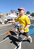 Walt Hester | Trail Gazette<br /> Race co-founder Rick Life finishes the half marathon, injured calf, and all, with cousin-in-law Blake Hayworth. This was Life's first chance to run a race he helped create.