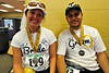 Walt Hester | Trail Gazette<br /> Cheryl and Rene Garcia of Topeka, Kans. relax after a busy day of marathoning and wedded bliss. The pair were married before running Sunday's longest race.