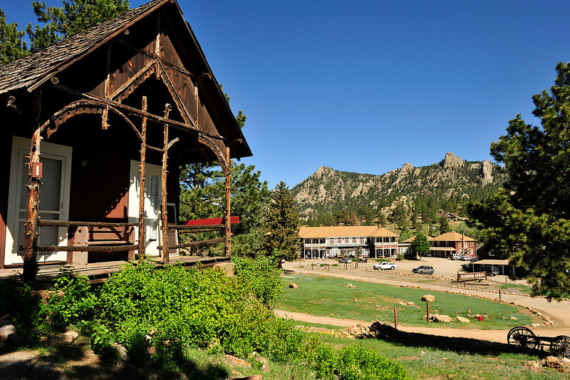 Walt Hester | Trail Gazette<br /> A building perporting to be the oldest church in Estes Park overlooks the Elkhorn Lodge on Wednesday morning.
