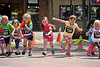 Walt Hester | Trail Gazette<br /> The five-and-under runners take off on their short race along MacGregor Avenue on Saturday. Organizers promoted fitness for the family with age-group children's races.