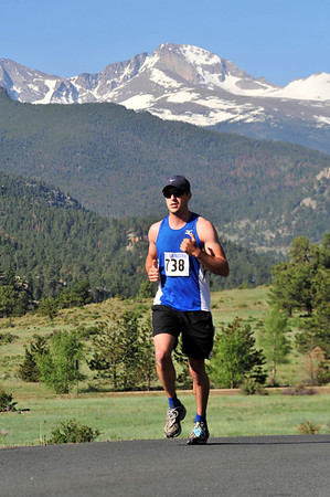 Walt Hester | Trail Gazette<br /> A half-marathoner closes in on the last few miles of the race. While athletes noted the challenge of the course, they also talked about the view.