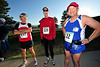 Walt Hester | Trail Gazette<br /> Charlie Viers of Natchitoches, La., Jim Simpson of Huntington Beach, Calif., and Cliff Cartwright of Boonville, Miss. prepare for yet another marathon. Ech has run over 100 marathons, Simpson has run 805 of the races.