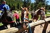 Walt Hester   Trail Gazette<br /> Anna Daugherty of St. Peters, Mo., prepares to head back to the National Park Gateway Stables from Horseshoe Park on Tuesday. Several stables take visitors through the park on horseback.
