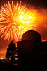 Walt Hester | Trail Gazette<br /> Monday's fireworks fill the skies above the Estes Park Memorial Observatory. Fans encircled Lake Estes as well as a lot of the parking lots.