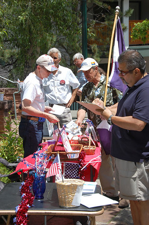Patriotic items were available during the July 2 freedom rally in Performance Park.