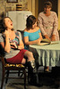 "Walt Hester | Trail Gazette<br /> The Magrath sisters share memories and a laugh in the play ""Crimes of the Heart."" From left the sisters are Emily Flemming, Gracie Mareau and Christann Higley."