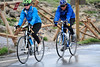 Walt Hester | Trail Gazette<br /> A pair of riders make their way toward Rock Cut as rain begins to fall on Trail Ridge Road on Friday. While the lure of the ride is strong for many cyclists, the danger of quickly-changing weather can scare many.