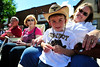 Walt Hester | Trail Gazette<br /> Birthday cowboy Cooper Capps, 5, of Estes Park awaits the start of the Rooftop Rodeo Parade on Tuesday.