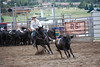 Rider and horse must work as one during team penning competition. The Rocky Mountain Team Penning Association held a two-day competition in Estes Park July 9 and 10.