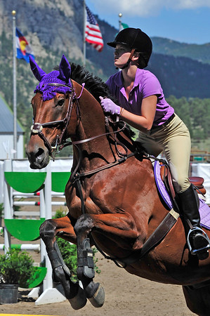 Walt Hester | Trail Gazette<br /> Nicole Conklin, 16, of Brighton, Colo., rides Fortissimo in the Low Jumpers division at the Half Penny Horse Show on Wednesday. While the Half Penny show ended Thursday, the Copper Penny show lasts through the weekend.