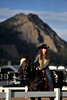 Walt Hester | Trail Gazette<br /> Senior Rooftop Rodeo Princess Alyssa Bartush warms up her mount on Thursday. The royalty program takes young girls and shows them discipline and self-respect to turn them into responsible young women.