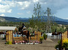 Horse and rider go over a jump at the Copper Penny horse show Sunday.