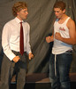 """Marwan Johnstone left,  Jharid Boosamra right rehearsing their roles in the Eagle Rock production of """"Said and Meant."""""""