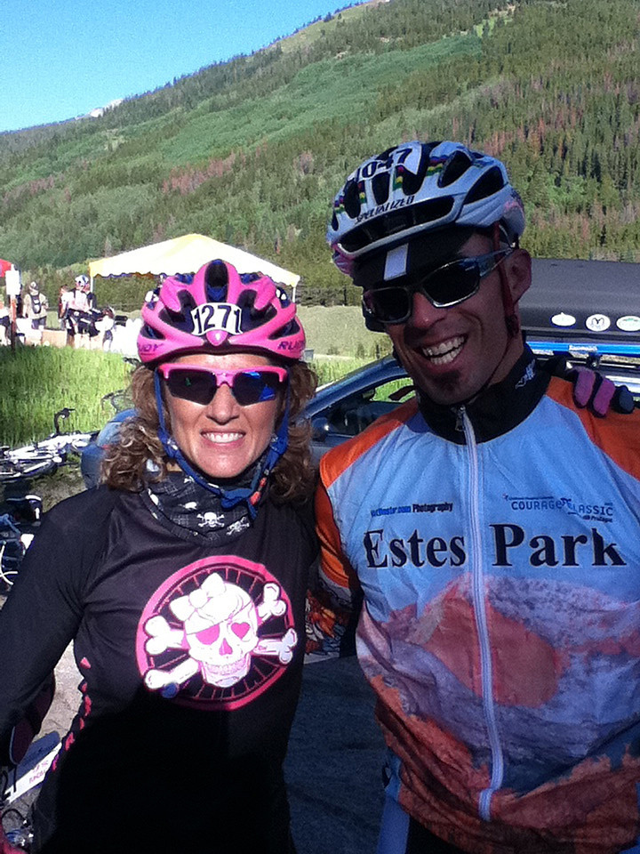 Walt Hester | Trail Gazette<br /> Susie Wargin of 9News Mighty Ninerswears a custom design made just for her by one of the Courage Classic's sponsors, Primal Wear. While a cycling enthusiast, a triathlete and sportscaster, Wargin is also a spokesman for the Courage Classic.