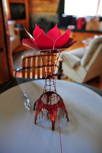 Walt Hester | Trail Gazette A small-scale model of the Tower of Transformation tops a table in Joe Arnolds home on Wednesday. For more information on the project, go to toweroftransformation.com.