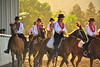 Walt Hester | Trail Gazette<br /> Girls display wide smiles as well as riding skill on Friday. The riders of the Westernaires clear love what they do.