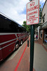 Walt Hester | Trail Gazette<br /> A bus sits in a well-marked no-parking zone on Elkhorn Avenue on Monday. The driver returned before his bus was towed.