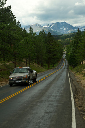 Walt Hester | Trail Gazette<br /> Traffic heads toward Moraine Park along Bear Lake Road on Wednesday. The stretch of road is targeted for repaving soon.