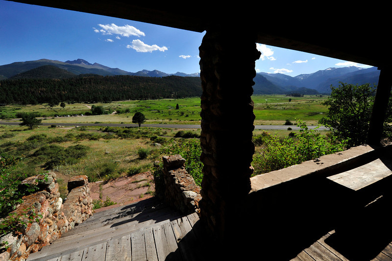 Walt Hester | Trail Gazette<br /> Moraine Park spreads out infront of the William Allen White Cabin on Tuesday. The cabin is the home of the Rocky Mountain National Park's Artist-in-Residence program.