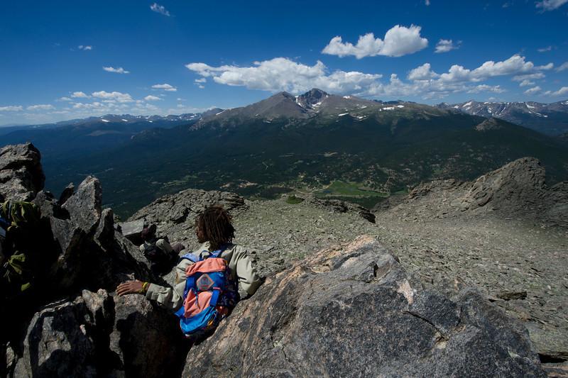 Walt Hester | Trail Gazette<br /> A fantastic view awaits those who make the nearly 4-mile ascent of the Twin Sisters. The hike offers one of the best views of Longs Peak in the whole national park.