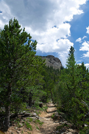 Walt Hester | Trail Gazette<br /> The destination looms above the Twin Sisters Trail.