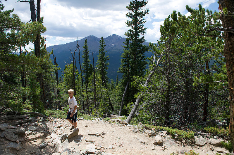 Walt Hester | Trail Gazette<br /> Eleven-year-old Elliot Clerc of Prairie du Rocher, Ill. makes his way up the trail on Monday. While certainly strenuous, a reasonablly fit person can make the hike.