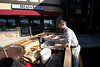 Walt Hester | Trail Gazette<br /> Christopher Reppert loads up for tasty deliveries on Friday. Many of Estes Park's small business owners are up with the sun and at there work seven days a week.