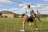 Walt Hester | Trail Gazette<br /> Estes Park's boys' soccer team practices at Bobcat Stadium on Tuesday. The team starts their season with a home tilt against Nederland at 4 p.m. on Monday.
