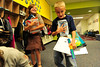 Walt Hester | Trail Gazette<br /> Jarad Guthrie, 9, tries to keep control of all of his supplies at the Estes Park Elementary School on Monday. Monday was the first day of classes for Park R-3 Schools.