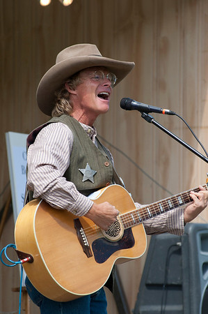Walt Hester | Trail Gazette<br /> Cowboy Brad Fitch entertains on the main stage on Saturday. Several different acts offered a variety of styles for music fans.