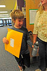 Walt Hester | Trail Gazette<br /> Logan Goodemote has his waterbottle and school folder as he heads into his first day of fourth grade on Monday. Park R-3 Schools started classes for the 2011-12 school year this week.