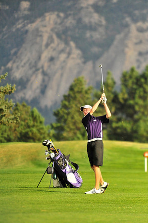 Walt Hester | Trail Gazette<br /> Bobcats' sophomore golfer Dylan Jirsa drives during Thursday's Estes Park Invitational Tournament. Jirsa has turned into a leader in the young squad, helping the 'Cats prepare for the regional golf tournament in Greeley later this month.