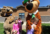 Walt Hester | Trail Gazette<br /> Children wait their turns while Heather Russell, 5, hugs Yogi Bear during the Estes Park Elementary School's Teddy Bear Picnic on Friday. The annual event is a fun time for new kindergarteners.