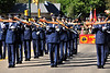 Walt Hester | Trail Gazette<br /> The US Air Force's Presicion Drill Team performs during Saturday's parade on Elkhorn Avenue. The team performed throughout the weekend and demonstrated why the are considered the finest silent drill team on earth.