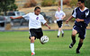 Walt Hester | Trail Gazette<br /> Freshman Erick Dominguez shoots last week. Dominguez stepped up to score a goal and help the 'Cats bury arch rival Berthoud.