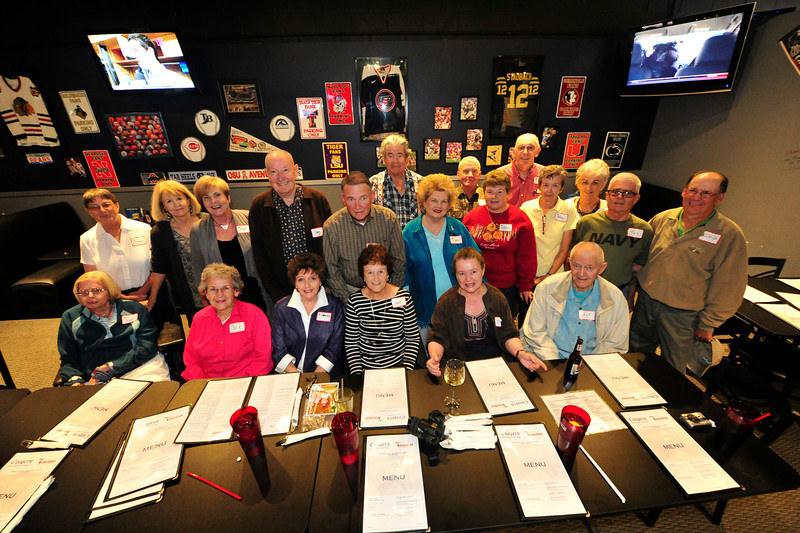 Walt Hester | Trail Gazette<br /> Members of the Estes Park High School's class of 1961 enjoy dinner after Thursday's parade. The reunion was already planned when they found out this was Homecoming Week.