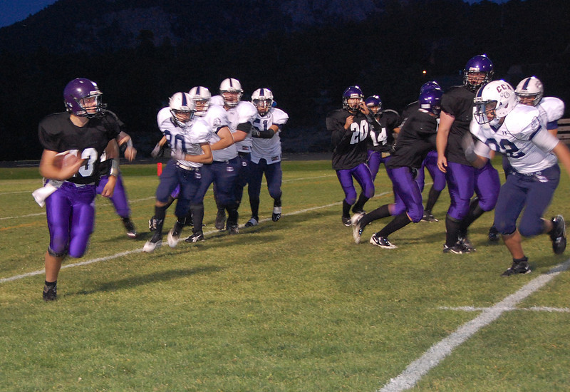 Bobcat quarterback Frankie KellerTwigg finds running room during the first quarter in the Sept. 16 homecoming contest against Cornerstone Christian.