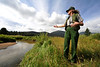 Walt Hester | Trail Gazette<br /> Therese Johnson of Rocky Mountain National Park shows willows slowly filling in along the Fall River in Horseshoe Park last week. Rocky has the highest concentration of elk of any natural space in the US.