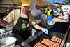 Walt Hester | Trail Gazette<br /> David White prepares food for the crouds at the Autumn Gold festival in Bond Park on Sunday. The festival offers food, beer and music for fall visitors to Estes Park