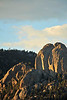 Walt Hester | Trail Gazette<br /> Evening light casts long shadows on Twin Owls on Tuesday.