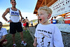 Walt Hester | Trail Gazette<br /> Nicholas Van Landschoot, 5, of Broomfield explains how he raised $85 for Partners at the Ronnung of the Bulls on Saturday. Van Landschoots realized many children don't have supportive grownups around, so he raised money to assist that cause.