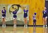 Walt Hester | Trail-Gazette<br /> Little Maya Kiser helps the older girls cheer for the Ladycats on Tuesday.