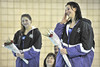 Walt Hester | Trail-Gazette<br /> Estes Park Ladycats' senior swimmers Audra Sherman and Brittany Walters are singled out during Thursday's swim meet. The meet was the last home meet for the Ladycats.