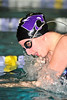 Walt Hester | Trail-Gazette<br /> Senior Brit Walters swims the 100 breaststroke in 1:16.32 against an underpwered Valley team. Walters won the race, one of her weaker events.