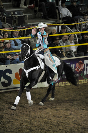 Walt Hester | Trail-Gazette<br /> Kellsie Purdy enjoys her first ride as Miss Rodeo Colorado. Purdy is the first former Rooftop Rodeo Queen to go on the represent rodeo for the whole state of Colorado.