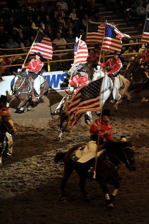 Walt Hester | Trail-Gazette<br /> The Westerniers perform before Sunday nights coronation. The Westerniers are a precision mounted drill team based at the Jefferson County Fair Grounds in Golden.